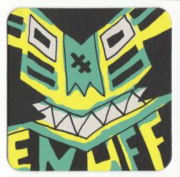 """Enuff"" Art print Coaster By Le Merde"