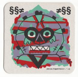 """Megalith"" Art print Coaster By Le Merde"
